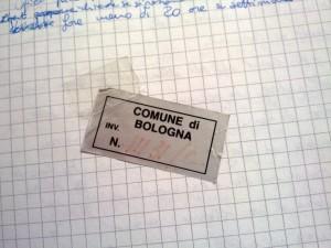etichetta del comune di bologna